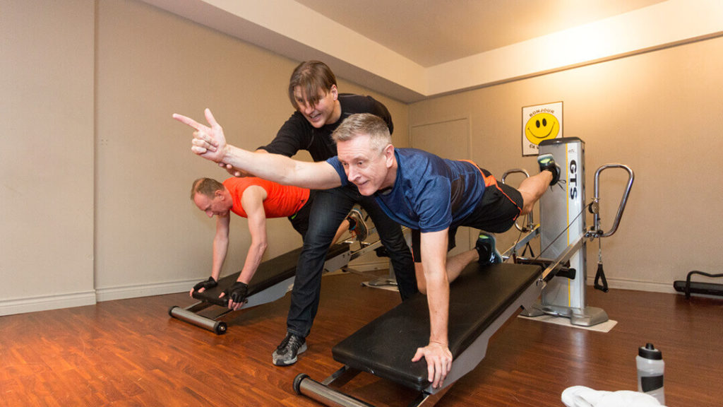 Attend the Best Fitness Studios Vancouver. Troy with his clients.