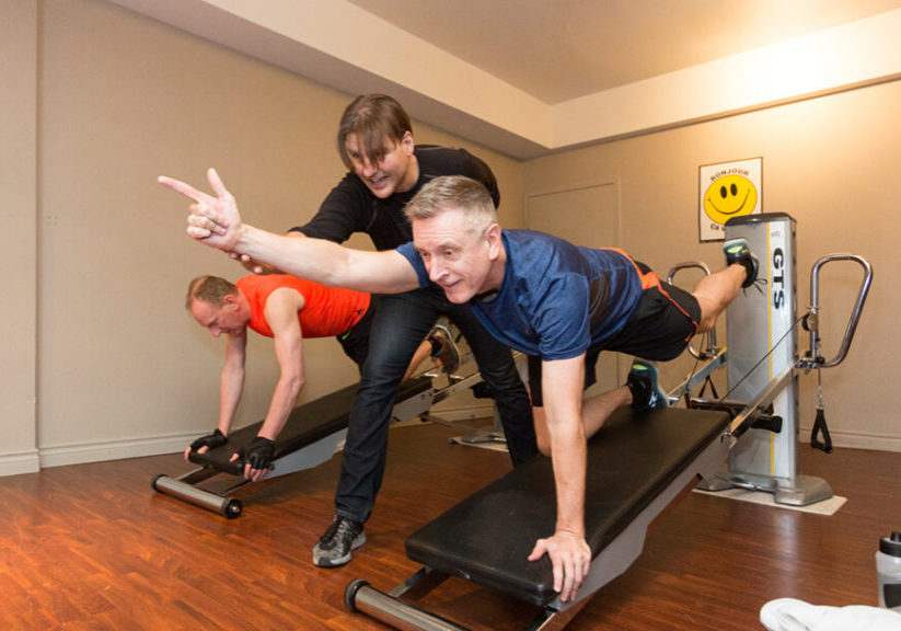Weight Loss Personal Training vs Cardio. Troy with his client.